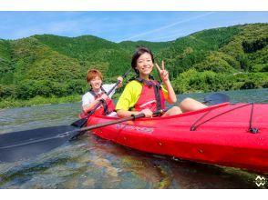 *2人乗りカヌー* 四万十川で1時間のおてがるカヌー 体験!カップル、お子さまとの体験に人気!