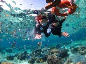 츄라 우미 수족관 근처 깨끗한 산호와 하얀 모래가 펼쳐지는 고리라 톳에서 스노클!