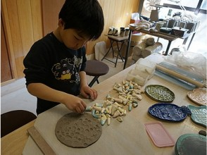 [Kyoto/ Kamigyo-ku] Participants can make a dish with a cute pattern with original stamps from kindergarten students! OK empty-handed!