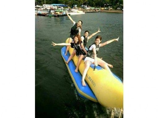 【山梨・山中湖】水遊びの定番 バナナボート!!