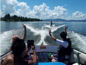 [Shiga ·Biwa lake· Wakeboarding For experienced users! Free towing (10 minutes x 2 sets)