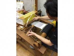 [Kyoto] Weaving experience-Weaving brocade (twill weaving) & workshop tour! Touch the best art and history!