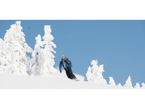 [Powder run between the rime in Hakkoda! The back country tour [image of the half-day course]