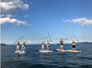 【滋賀・琵琶湖】レンタル込み!水のキレイな琵琶湖Wani Baseで水上散歩SUP体験(初心者向け)