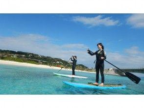 [冲绳,小栗岛,SUP]在小栗岛,小岛上的立式桨(SUP)体验☆好处多多