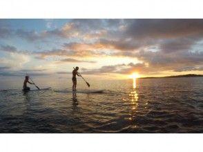 【沖縄北部、本部町、SUP】西海岸の海で夕陽を満喫!サンセットSUP体験プラン☆