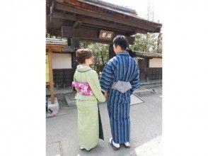 [福岛-会津·和服租借]和服租借走在城堡镇♪会津棉套(男人和女人)