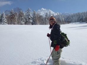 【北海道・十勝岳】嬉しい温泉付き♪スノーシュー体験!(半日コース)の画像