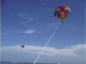 【沖縄・北部】美ら海パラセーリング&瀬底島でBBQ&海水浴の画像