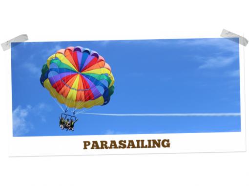 【沖縄・宜野湾】当店オリジナルオーダーメイドパラセーリングボードにのって宜野湾上空を空高く飛ぼう!!の紹介画像