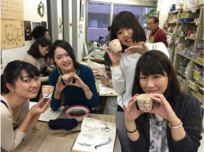 [Tokyo / Meguro] Popular! Regular experience to enjoy painting and hand-crafted pottery