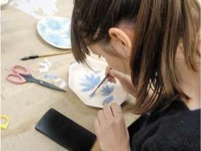 [Tokyo / Meguro] Challenge traditional decoration! Washi dyeing experience spreading beautiful blue