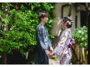 京都 祇園 着物レンタル「カップルプラン」デートにおすすめ!手ぶらでOK・お荷物無料お預かり!(浴衣可)