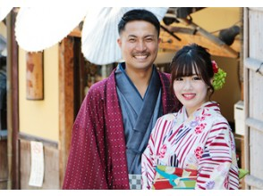 """Kyoto Gion Kimono Rental """"Couple Plan"""" Recommended for dates! It's OK empty-handed and you can store your luggage for free!"""