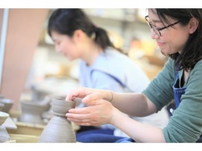 [Tokyo Ginza] Electric potter's wheel one-day experience course ☆ Let's start ♪ Ceramic art happy experience that can also turn the potter's wheel ☆