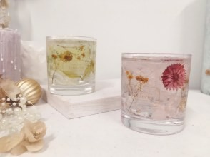 """[Osaka/ Umeda] Making healing scent and beautiful charm """"Botanical candle (rock glass)""""! A small Number of participants 5 minutes on foot from Umeda station, up to 6 people!"""