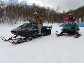 【Hokkaido · Furano】 A trip to the silver world! Snowmobile experience! ! ★ Image of one passenger / 250cc ★