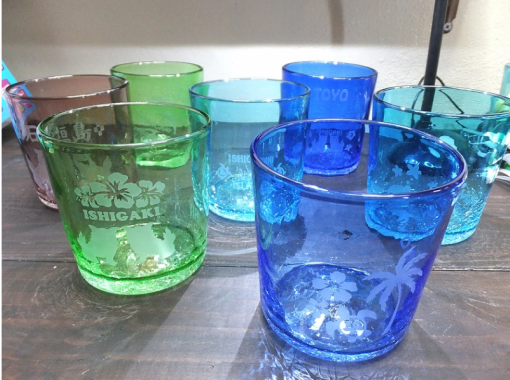 【沖縄・石垣島】グラス彫刻体験!サンドブラスト「スタンダードコース」