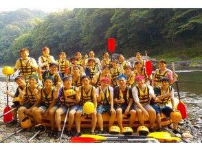 河口湖駅集合/桂川ラフティング半日体験ロングコース/一名様6300円~小学三年生から参加OK