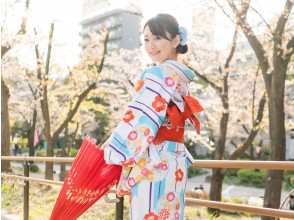 [Asakusa, Tokyo] <One woman plan> Discover your new self in a kimono! Reliable price including all dressing and hair set!