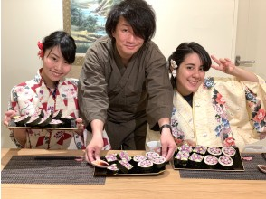 [Kyoto / Karasuma Oike] Excellent access! Making cute and delicious sushi rolls (2 types) with original recipe booklet!
