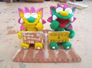 [沖縄·Nago / Stucco繪畫體驗]只需寫在盤子上!記憶shisa板畫的經驗