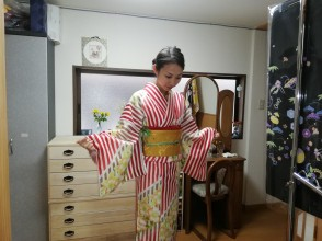 [Kyoto / Shijo Omiya] Why don't you dress yourself before going out? Experience dressing course! With matcha and sweets