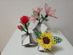 [Kyoto Shijo Omiya] Let's make hair ornaments and Japanese miscellaneous goods with the trendy Mizuhiki. Includes matcha and sweets. 2 hour course
