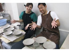 """[Tokyo-Akabanebashi] electric potter's wheel course """"couple plan"""" pottery dating! Near the station! OK on the On the day!"""