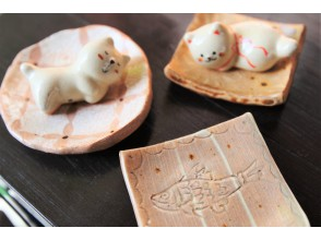 【大阪南堀江】豆皿手びねりorネコの箸置きから選べるきっかけ陶芸体験☆今日をステキな一日に♪