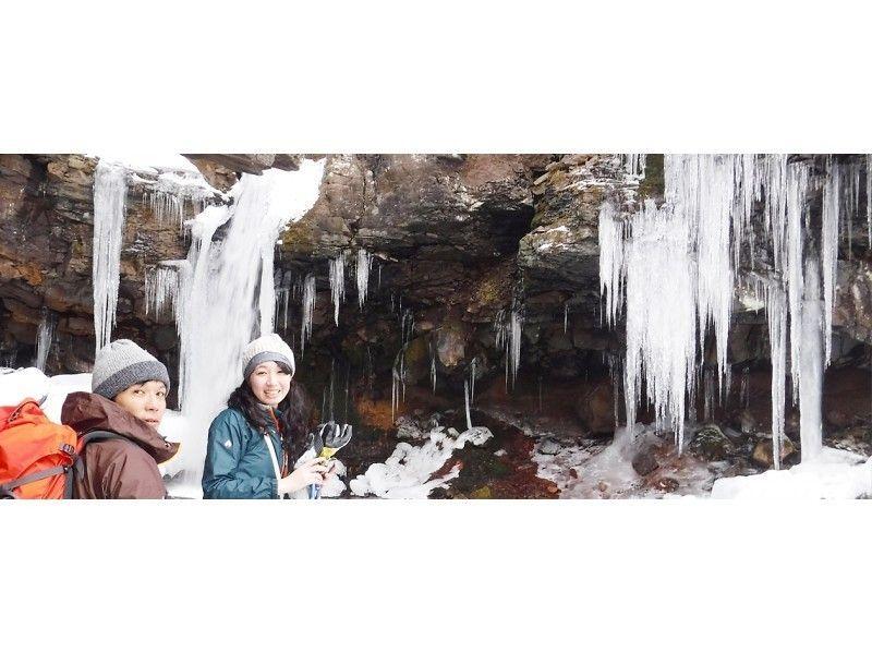 【北海道・ニセコ】滝の氷の世界へ!スノーシュー1DAYツアーの紹介画像