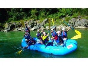 13km full of fun! [Nagano Tenryu River] with natural Hot spring bathing ticket! Rafting experience half tour
