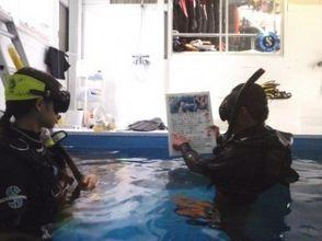 【兵庫・姫路】夜でも受付できます!水中撮影スクール付きシュノーケル体験(店内プールコース)の画像