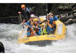 [Hokkaido Tokachi River] rafting-half-day course (W rafting)