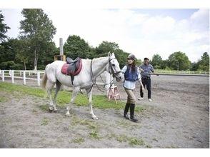 【北海道・石狩】初心者向け!体験乗馬&ミニトレッキング(30分)の画像