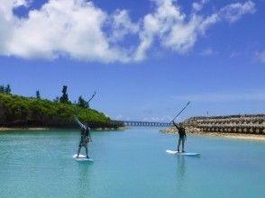 【沖縄・宮古島】伊良部大橋を一望できる海でSUP体験