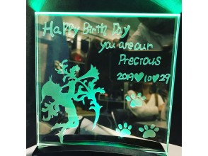 [Asakusabashi 1 minute] Shining LED irradiation panel set production ★ Creating an interior that colors the anniversary-Engrave your memories-