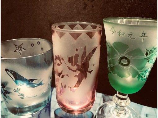 【浅草橋1分】砂で削るガラス工芸で、グラスに好きな絵や文字を彫刻できるよ。すぐに持ち帰りOK.
