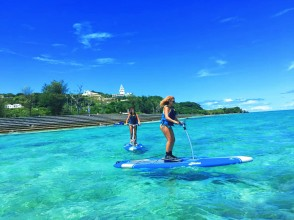 Regional common coupons can be used ♪ [Okinawa / Kouri Island / SUP] Experience with a secure charter for each group! Experience a new sensation sap! Pedal sap Rental 30 minutes ♪