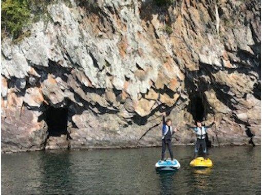 【鹿児島・池田湖】ボートクルージングパワースポット巡り付★SUPスクール!