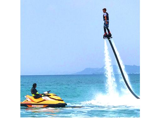 【沖縄・津堅島】フライボード体験★津堅島の海で爽快フライト♪