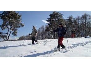建議第一個!森林探索之旅的輕井澤雪鞋雪圖片(雪茶時間和洗澡免費溫泉!)