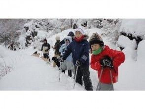 [Nagano/ Karuizawa] Mt. Asama climbing Snowshoes trekking-A big panorama with a view of Mt. Asama up close-7 years old