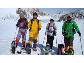 【浅間山】富士山、八ヶ岳、アルプスを望む絶景の山頂 『浅間連峰・篭の登山登頂コース』【スノーシュー】の画像