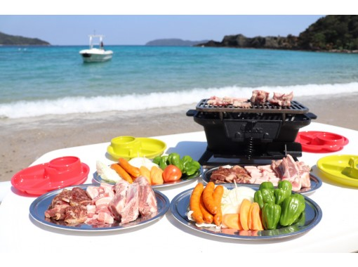 奄美北部で唯一船でしか行けない秘境のビーチでBBQ‼非日常が味わえる贅沢なプライベートBBQプラン