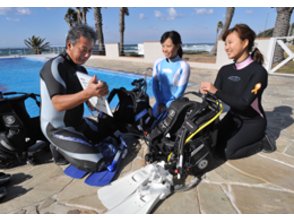 [Ibaraki Mito] is recommended for those who for the first time with anxiety! Pool in the Discover Scuba Diving (Discover Scuba Diving)