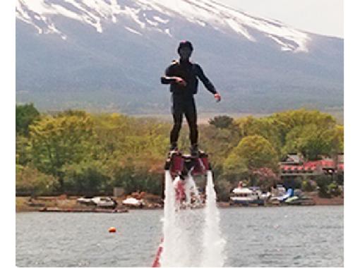 山中湖 注目度No.1のマリンスポーツ フライボード体験