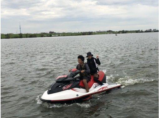 【東京・千葉・江戸川】免許不要!水上バイク体験★インストラクター同乗ジェットスキー