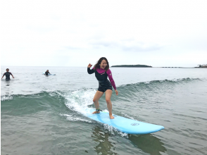 [Miyazaki Qingdao] 1 minute walk to the sea! Empty-handed surfing experience course!