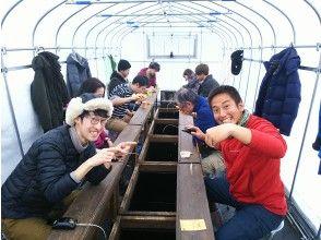 [Fukushima/ Hagiwara Lake] Smelt Smelt fishing hand-with Snowmobile or motorboat excursion & souvenir (afternoon)